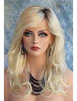 длинные волнистые синтетические волосы светлые парики для женщин моды парики термостойкими