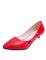 Черный / Красный / Серый-Женский-Для офиса / На каждый день-Полиуретан-На шпильке-На каблуках / С острым носком-Обувь на каблуках