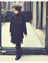 Girl's Going out Solid Dress / Overall & JumpsuitCotton / Polyester Spring / Fall Black