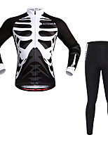 Wosawe® Cycling Jersey with Tights Unisex Long Sleeve Bike Quick Dry / Moisture Permeability / 3D Pad / Limits Bacteria / Sweat-wicking