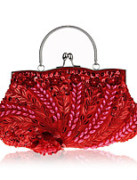 L.west Women Elegant High-grade Retro Beaded Embroidery Evening Bag