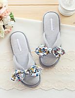 Damen-Slippers & Flip-Flops-Lässig-Gummi-Flacher Absatz-Komfort-Grau