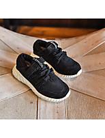Unisex Flats Fall Flats Canvas Casual Flat Heel Fur Black / Purple / Gray Sneaker