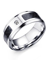 Ring Punk Steel Circle Black Jewelry For Daily 1pc