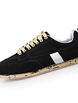Men's Oxfords Fall Comfort Fur Casual Flat Heel Lace-up Black Yellow Red Green Blue