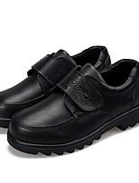 ЧерныйПовседневный-Полиуретан-На плоской подошве-Удобная обувь Light Up обувь-Туфли на шнуровке