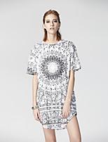 Heart Soul Women's Round Neck Short Sleeve T Shirt White-26AD20835