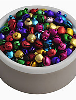 Loose Beads Color 200 PC 8 mm / A Lot Of Small Jingle Bells Christmas Gift Wholesale Supply