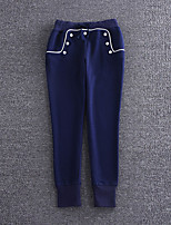 Boutique S Women's Solid Blue Chinos PantsSimple