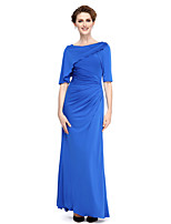 Lanting Bride®Sheath / Column Mother of the Bride Dress Ankle-length Half Sleeve Jersey with Side Draping