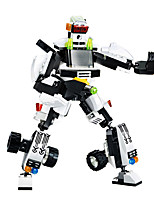 Building Blocks For Gift  Building Blocks Model & Building Toy Car / Robot Plastic Above 6 Black / White Toys