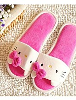 Women's Slippers & Flip-Flops Spring / Fall Comfort Fleece Casual Flat Heel Bowknot Pink / Red Others
