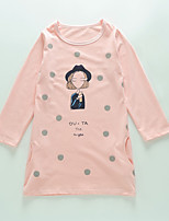 Girl's Casual/Daily Polka Dot TeeCotton / Spandex Spring / Fall Pink / Purple / White