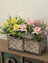 1 1 Филиал Пластик Другое Букеты на стол Искусственные Цветы 9.4inch/24cm