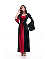 Costumes More Costumes Halloween Red / Purple / Black Patchwork Terylene Dress / More Accessories