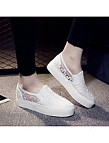 Women's Loafers & Slip-Ons Spring Summer Fall Comfort Lace Outdoor Casual Flat Heel Others Black White Walking
