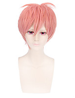 Fashion Short Curly Wig Pink Color Synthetic Cosplay African American Wigs
