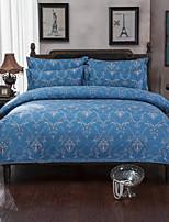 bedtoppings cachecol 4pcs duvet cover quilt definir o tamanho da rainha folha plana fronha padrão clássico imprime microfibra