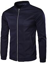 Мужской Полиэстер Куртка На каждый день / Для офиса / Для торжеств и мероприятий / Для занятий спортом / Большие размеры,Однотонный,