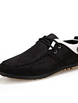 Men's Sneakers Spring Fall Moccasin Canvas Casual Flat Heel Lace-up Others Black Blue Yellow Others