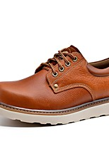 Men's Oxfords Spring/Summer /Fall/Winter Comfort Nappa Leather Outdoor / Athletic / Casual Black/Brown Sneaker