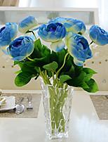 1 1 Филиал Полиэстер / Пластик Камелия Букеты на стол Искусственные Цветы 15.3inch/39cm