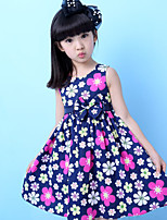 Girl's Casual/Daily Solid DressPolyester Summer Blue