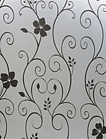 Black Iron Grilles Foil Glass Paper Sticking Matte Paper Opaque Transparent Bathroom Door
