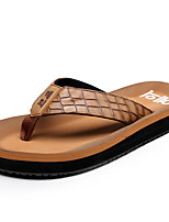 Men's Slippers & Flip-Flops Summer Slingback Leatherette Casual Flat Heel Others Black / Brown / Green / Coffee Others