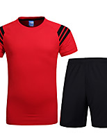 Running Clothing Sets/Suits Men's Short Sleeve Breathable / Comfortable Cotton Leisure Sports / Basketball
