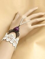 Lolita Accessories Classic/Traditional Lolita Bracelet/Bangle Victorian Purple Lolita Accessories Bracelet Lace For WomenArtificial
