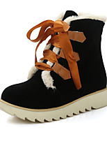 Women's Boots Fall / Winter Snow Boots / Fashion Boots / Round Toe Office & Career / Dress / Platform Fur / Lace-up
