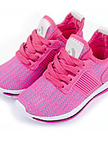 Girl's Sneakers Spring / Summer / Fall Closed Toe Fabric Outdoor / Athletic Flat Heel Lace-up Black / Pink Others