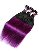7A Ombre brazilian hair ombre human hair purple color brazilian straight hair weave bundles 1b two tone of color