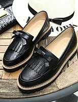 Women's Loafers & Slip-Ons Spring Fall Comfort PU Casual Flat Heel Tassel Black Beige Others