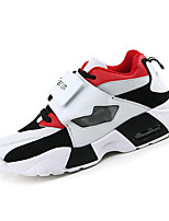 Men's Sneakers Spring / Fall Comfort / Round Toe Tulle Athletic Flat Heel Others / Hook & Loop Black / Red / White