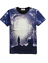 New Fashion Men Stereoscopic creativity  Printed Crew Neck Short Sleeve Men 3d T-shirt