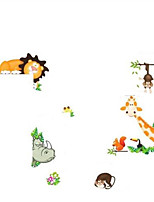 Nursery Animal Zoo Tiger Kids Room PVC Wall Stickers Home Decor Wallpaper Mural