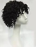 высокое качество короткая длина естественный черный глубокий фигурная сырой необработанный бразильский виргинский парик человеческих волос