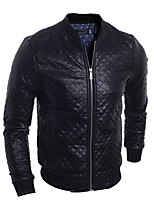 Men's Long Sleeve Casual / Work / Formal / Sport / Plus Size JacketCotton / Acrylic / Special Leather Types Plaid