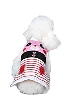 Katzen / Hunde Kostüme / Mäntel / Pullover / Weste Rot / Blau / Rosa / Grau Hundekleidung Winter / Frühling/Herbst Streifen / TierCosplay
