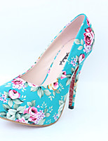 Women's Heels Spring Fall Platform Cotton Casual Stiletto Heel Platform Others Blue Red White Other