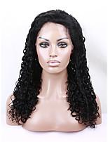 evawigs 100% brasileiro do cabelo humano virgem cor natural preto crespo encaracolado peruca cheia do laço