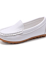 Boys Girls Flats Spring / Fall Comfort / Flats Leather / Loafers / Casual Flat Heel Slip-on Black / Blue / Yellow /