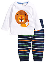 Boy's Casual/Daily Print Clothing SetCotton Winter / Spring / Fall White