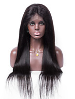 No shedding No tangle Straight Natural Color Light Brown Swiss Lace 130% density Human Hair Lace Front Wig