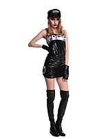 Costumes Uniforms Halloween Black Solid Terylene Dress / More Accessories
