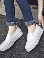 Women's Loafers & Slip-Ons Spring / Summer / Fall PU Athletic Flat Heel Others Black / White Sneaker
