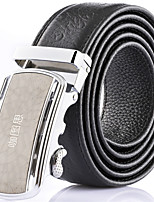 Katusi New Mens Ratchet Belt Fashion Business Casual Style Genuine Leather 3.5cm Width kts-3
