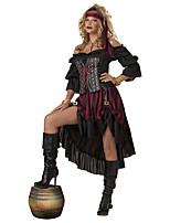 Costumes Movie & TV Theme Costumes Halloween / Oktoberfest Black Patchwork Terylene Dress / More Accessories